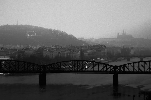 Foggy morning in Prague
