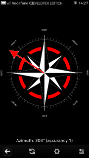 Compass screen