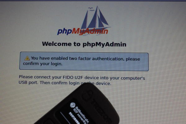 phpMyAdmin with TREZOR